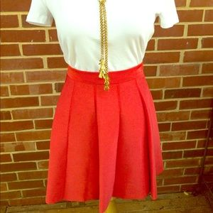 Parker Orange Flair Skirt